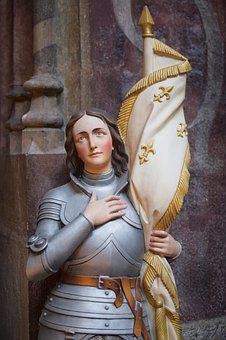 Jeanne D'arc, France, Flag, Statue, Church, Sculpture