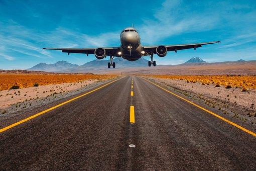Aeroplane, Fly, Flying, Landing, Transport, Highway