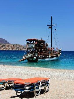 Ship, Island, Water, Marine, Travel, Holiday, Sand