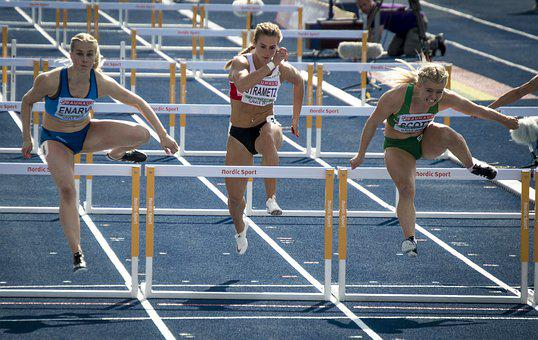 Hurdles, Track, Sports, Runner, Sprint, The Competition