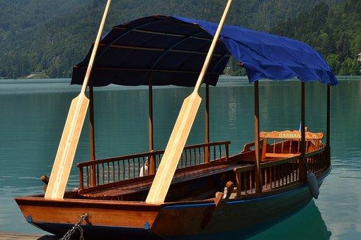 Boat, Lake, Bled, Slov, Slovenia