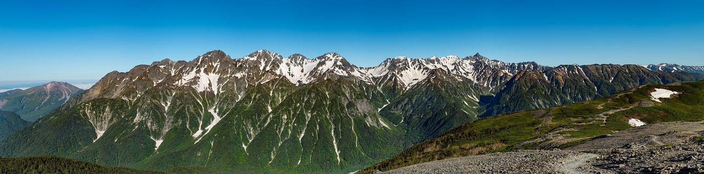 Landscape, Panorama, Mountain, 穂高岳
