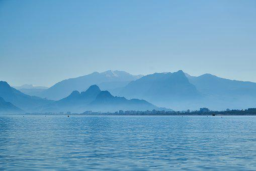 Landscape, Marine, Mountains, Mountain, Wave