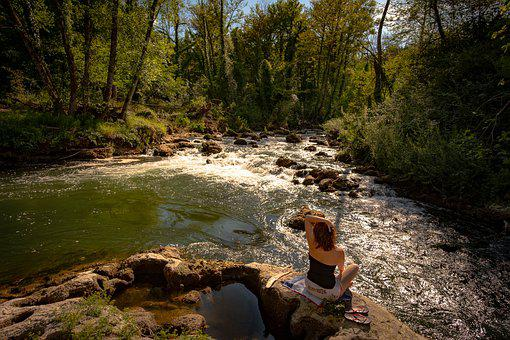 Woman, River, Nature, Landscape, Water, Girl, Person
