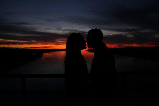 Love, Love Story, Relationship, Silhouette, Casal