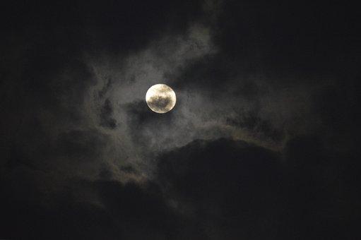 Moon, Moonlight, Earth Hour, Clouds, Night, Glow, Lunar