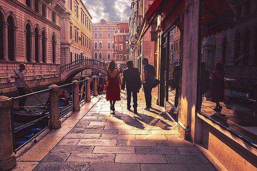 Venice, Tourism, Abendstimmung, Mood, Italy, Channel