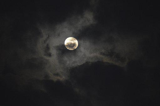 Moon, Moonlight, Earth Hour, Clouds, Night, Glow, Lunar