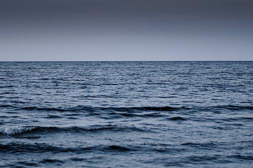 The Vastness Of The Waters, Sea, Ocean, The Horizon