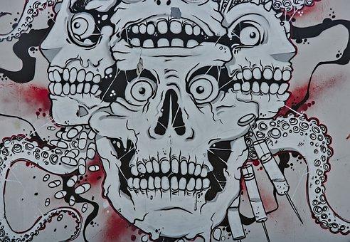 Wall, Concrete, Wall Painting, Graffiti, Art, Painting