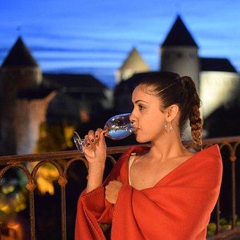 Woman, Wine, Restaurant, Alcohol, People, Model