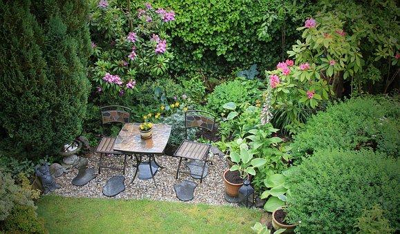 Garden, Peaceful, Secret, Enclosed, Plants, Nature