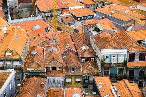 Porto, Portugal, The Roof Of The, Tile, City, Old Town