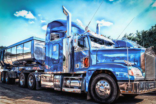 Truck, American, Show, Traffic, Transport