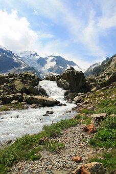 Susten, Switzerland, Mountains, Water, Landscape, Sky