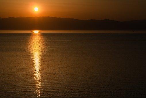 Dawn, Corfu, Sea, The Ionian Sea, Journey