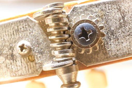 Tuning Peg, Mechanics, Close Up, Macro, Detail, Thread