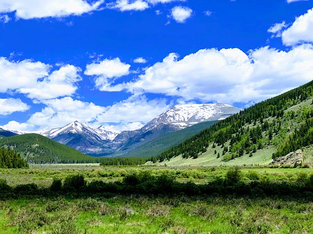 Colorado, Tumbling River, Rockies, Nature, Landscape