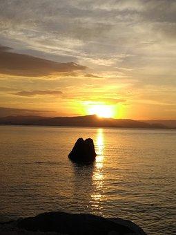 Landscape, Mar, Sunset, Twilight, Travel, Nature
