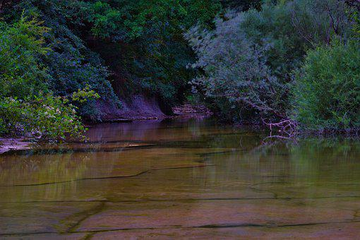 River, Water, Landscape, Nature, Outdoors, Trees