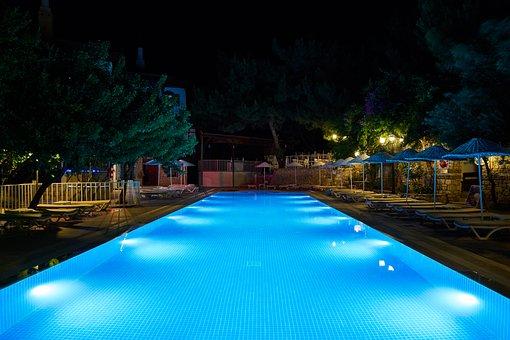 Pool, Swim, Hotel, Blue, Water, Summer, Swimming