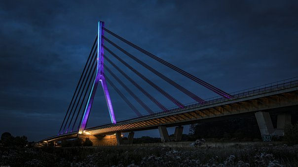 Bridge, Wesel, Architecture, Lower Rhine Bridge
