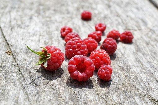 Raspberry, Pink, Wood, Summer, July, Food, Berries