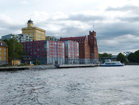 Stockholm, Sweden, Architecture, House, City, Island
