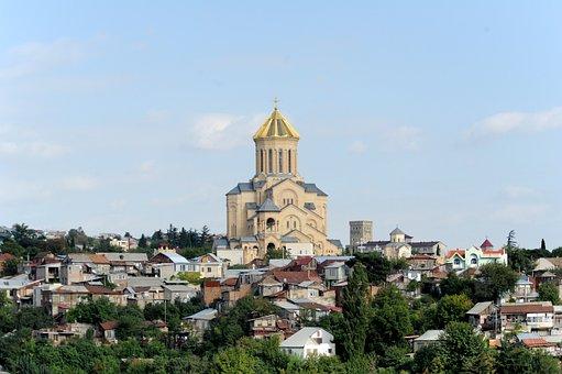 Sameba, Church, Georgia, Tbilisi, City, Orthodox