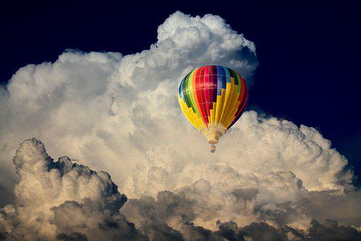 Hot Air Balloon, Clouds, Flying, Adventure, Sky