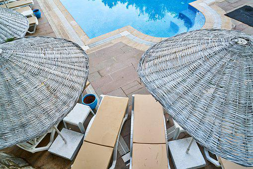 Pool, Umbrella, Hotel, Tourism, Tourist, Background