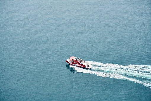 Boat, Boots, Speed, Face, Jet, Foam, Wave, Travel