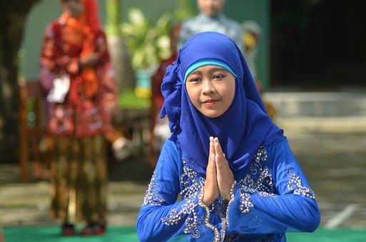 Girl, Headscarf, Kebaya, Muslimah, Kartini Day