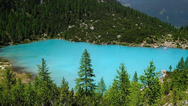 Nature, Landscape, Lake, Mountains, Bergsee