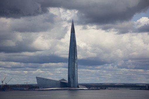 St Petersburg, Lakhta Center, Day, Tower, Landmark