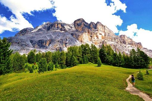 Mountains, Dolomites, Italy, Landscape, Hiking, Nature