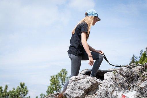 Rise, Nature, Hike, Hiking, Rock, Movement, Human
