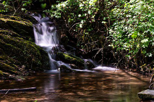 Waterfall, Water, Long Time Exposure, Nature, Landscape