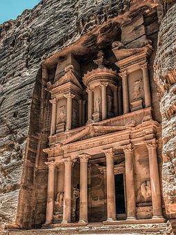 Petra, Jordan, Treasury, Ancient, Monument