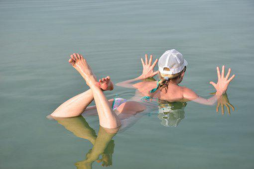Dead Sea, Sea, Israel, Water, Nature, Moment