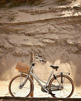 Holland, Bycicle, Strand, Netherlands, Tourism, Travel