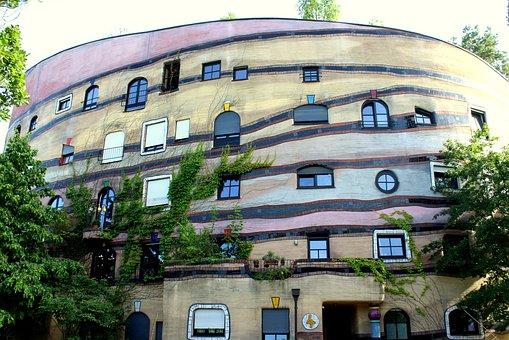 Building, Architecture, Modern, Waldspirale, House