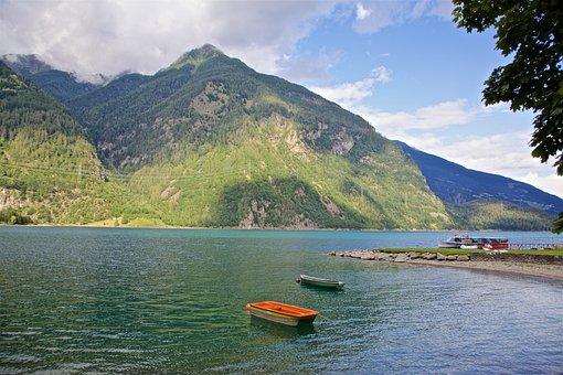 Lake, Mountains, Nature, Switzerland, Alpine, Landscape