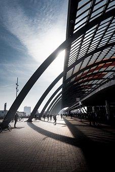 Amsterdam, Railway Station, Street, Holland