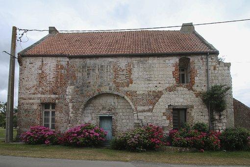 House, Old Building, Facade, Antique, Wall, Building