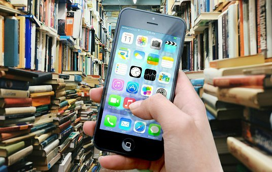Books, Library, Iphone, Smartphone, Apps, Apple Inc