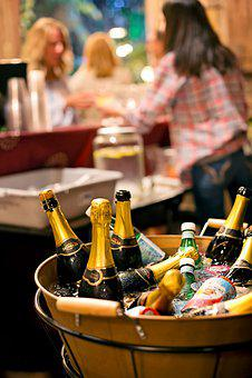 Wine, Beer, Drinks, Bottles, Party, Barrel, Pub