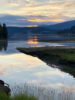 Canada, Bc, Port Moody, Vancouver, Inlet, Water, Nature