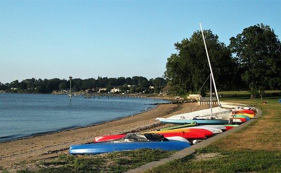 Boats, Marina, Beach, Ocean