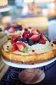 Cheesecake, Fruit, Strawberries, Berries, Sweet, Cake